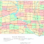 South Dakota Printable Map   Printable Map Of North Dakota