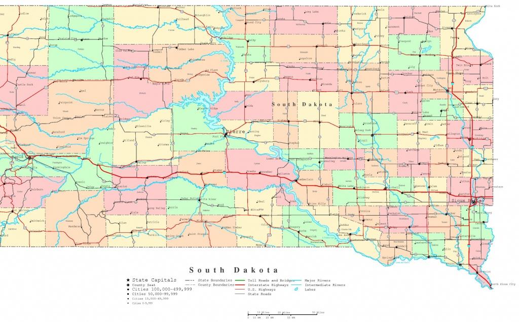 South Dakota Printable Map - Printable Map Of North Dakota