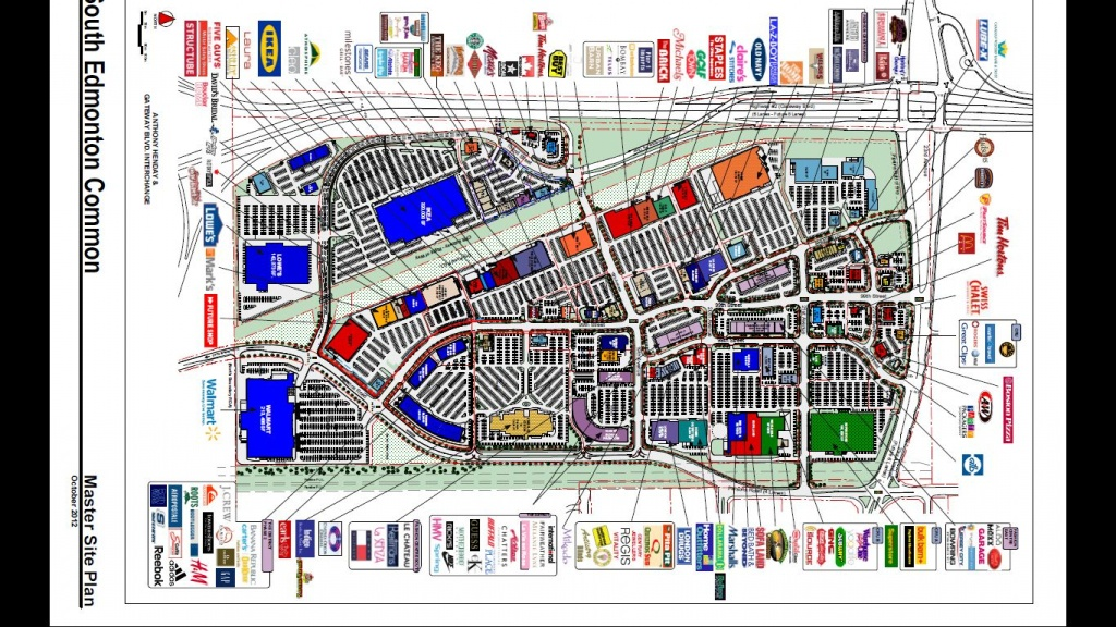 South Edmonton Common In Edmonton, Alberta - 169 Stores, Hours - West Edmonton Mall Map Printable