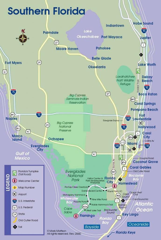 South Florida Map | Travel Maps | Florida Keys Map, South Florida - South Beach Florida Map