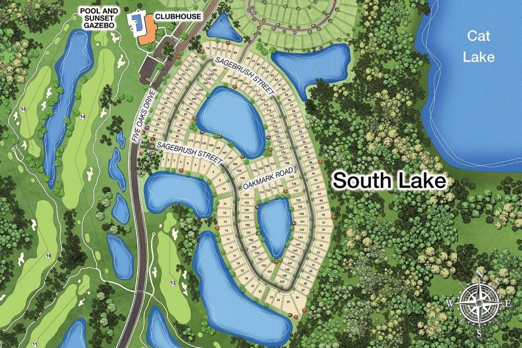 South Lake Site Map - Harmony, Fl - Harmony Florida Map