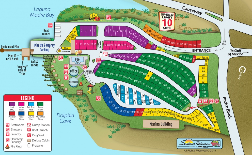 South Padre Island, Texas Campground | South Padre Island Koa - South Texas Rv Parks Map