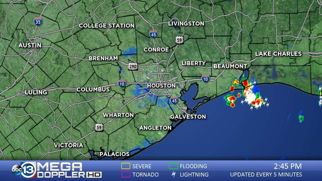 Southeast Texas Radar | Abc13 - Texas Satellite Weather Map