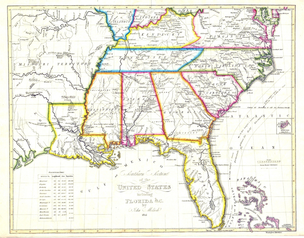 Southeastern United States States In The Southeast - Southeast States Map Printable