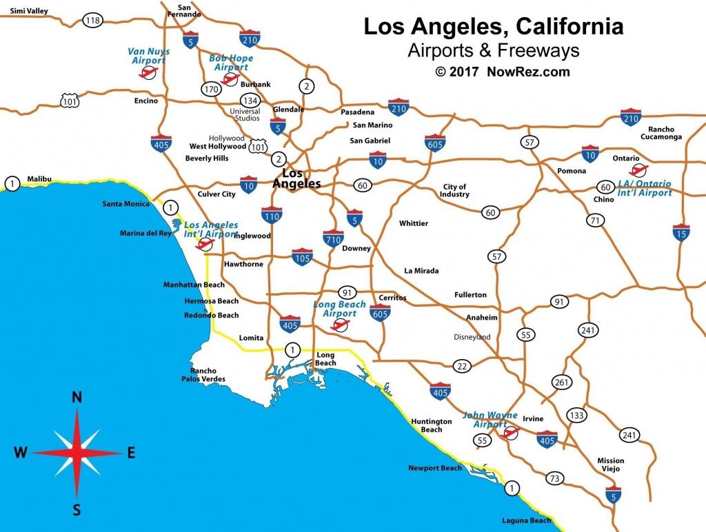 Southern California Airports Map Elegant Los Angeles Freeway Map For - Southern California Airports Map