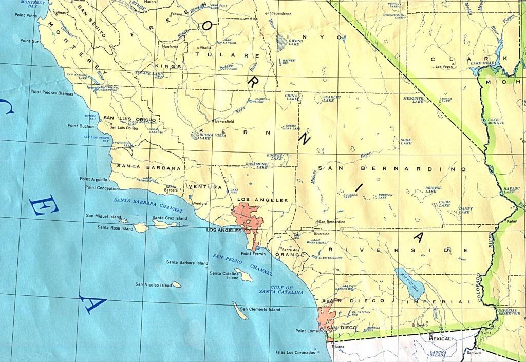 Southern California Base Map - Southern California Rivers Map