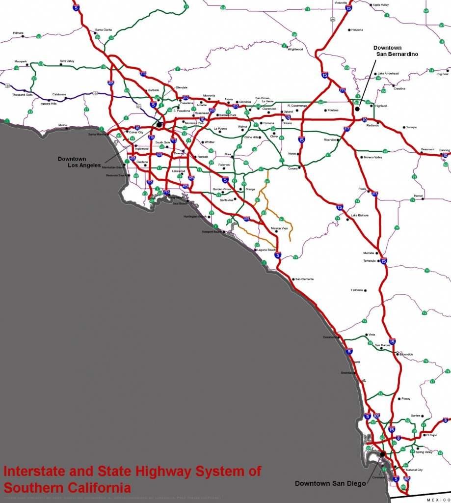 Southern California Freeways - Wikipedia - Map Of Southern California Freeway System