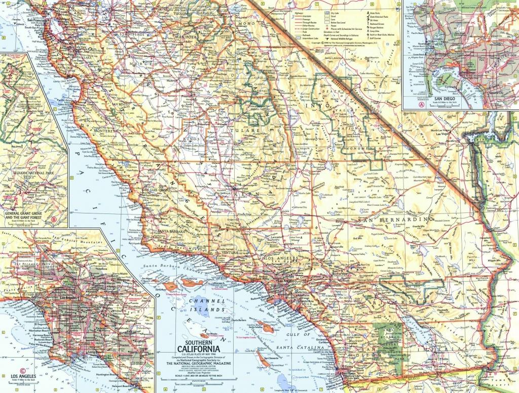 Southern California Map 1966 - Map Of Southeastern California