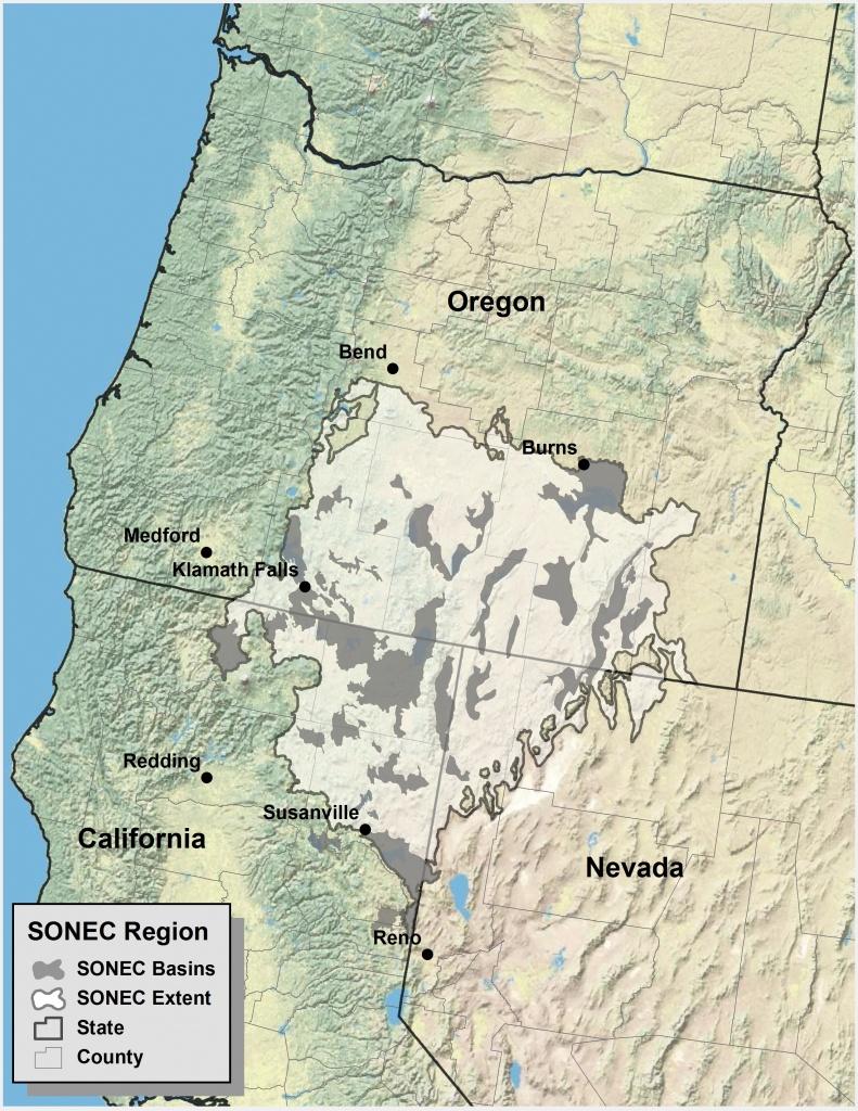 Southern Oregon Northeastern California Maps | Intermountain West - Oregon California Map