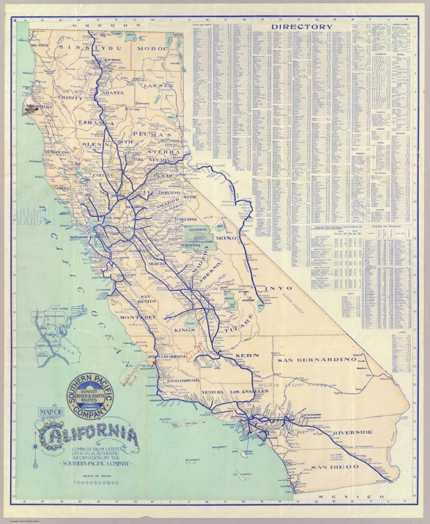 Southern Pacific Company Map Of California And It's Old Railroad - Old Maps Of Southern California