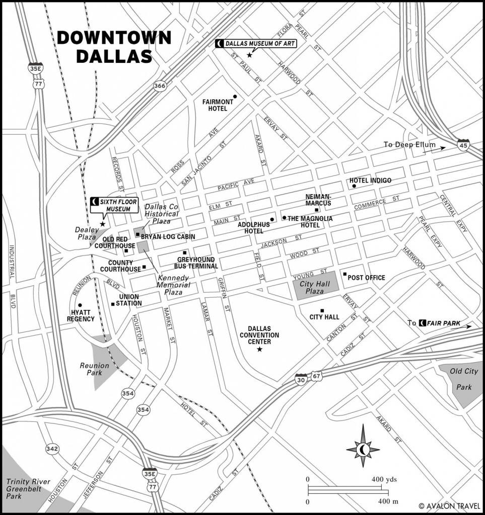 Southwest And Texas | Maps | Dallas Map, Map, Texas Travel - Map Of Downtown Dallas Texas