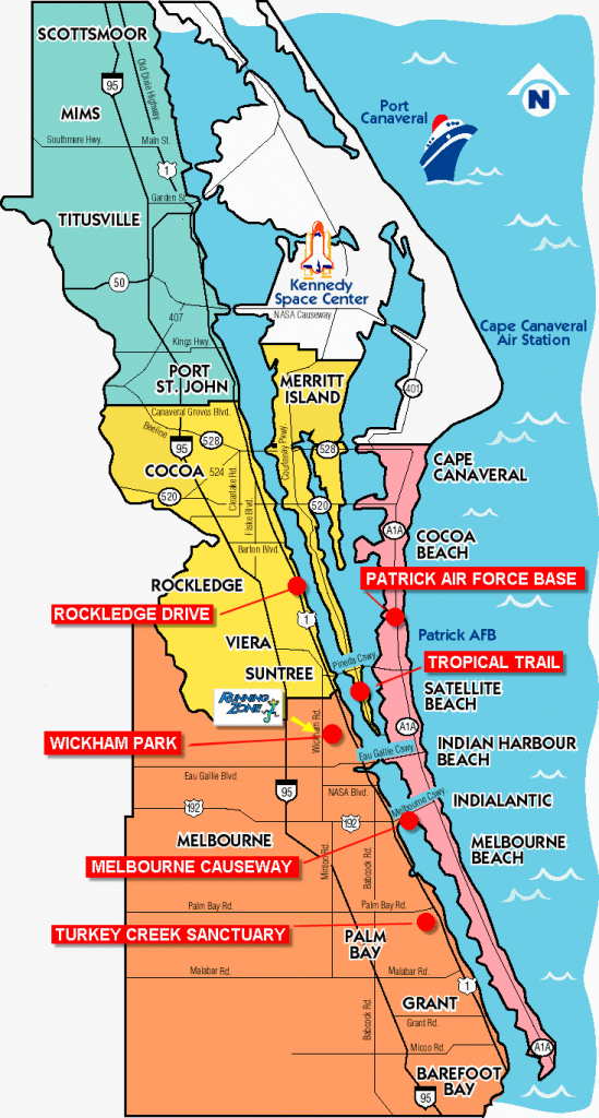Space Coast Florida Map | Fysiotherapieamstelstreek - Cocoa Beach Florida Map