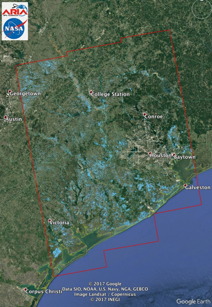 Space Images | New Nasa Satellite Flood Map Of Southeastern Texas - Google Satellite Map Of Texas