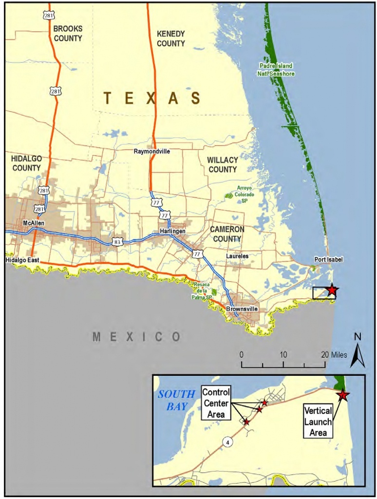 Spacex South Texas Launch Site - Wikipedia - Texas Beaches Map