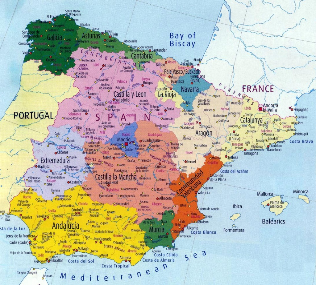 Spain Maps | Printable Maps Of Spain For Download - Printable Map Of Spain
