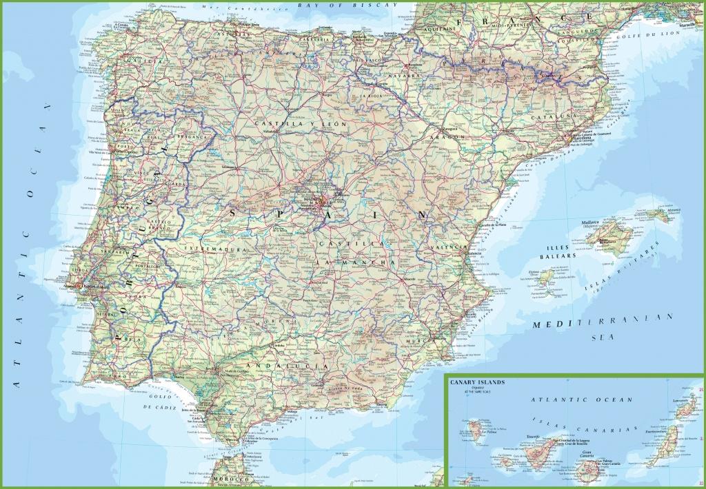 Spain Road Map - Printable Map Of Spain