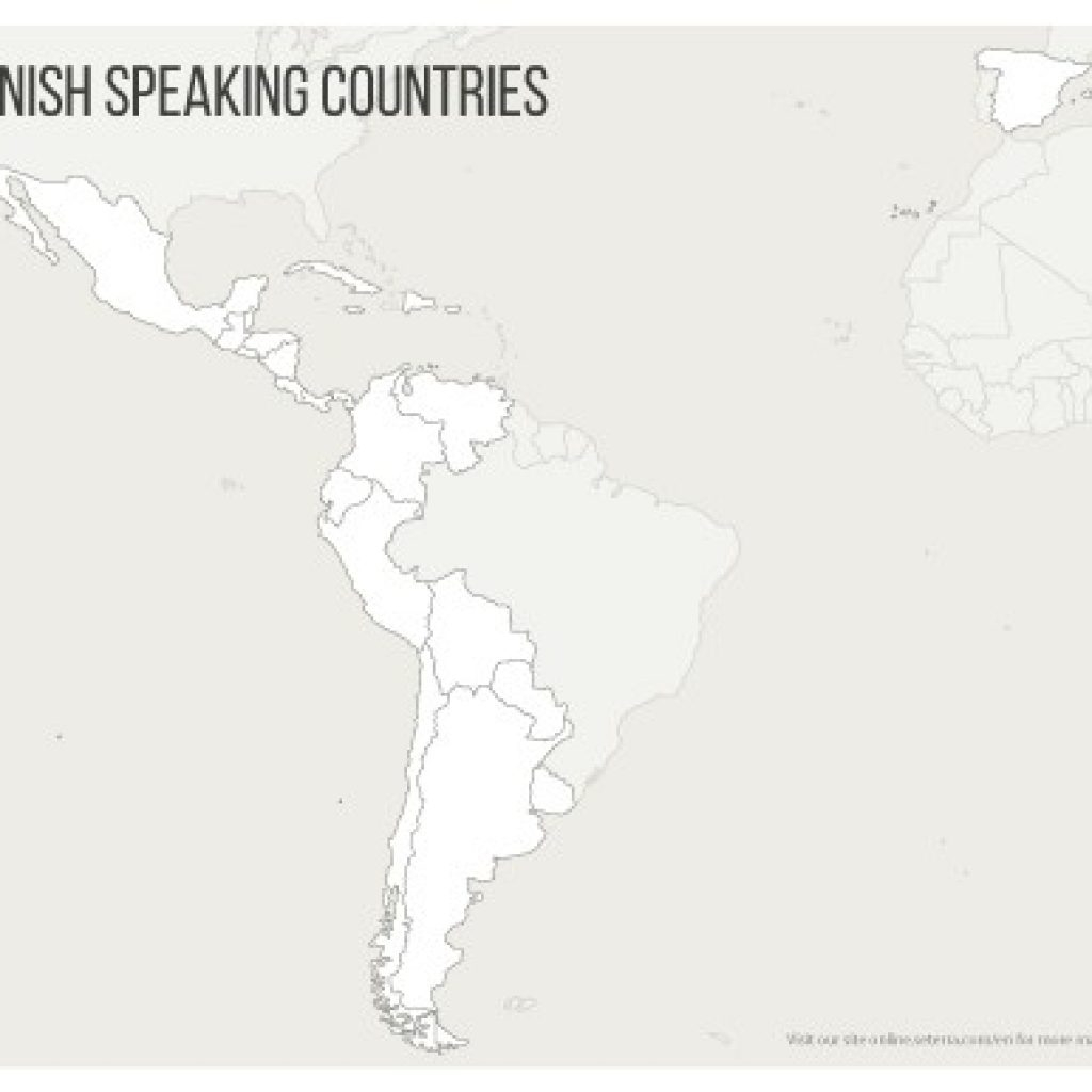 Spanish Speaking Countries Map Quiz Printables Game - Printable Map Of Spanish Speaking Countries