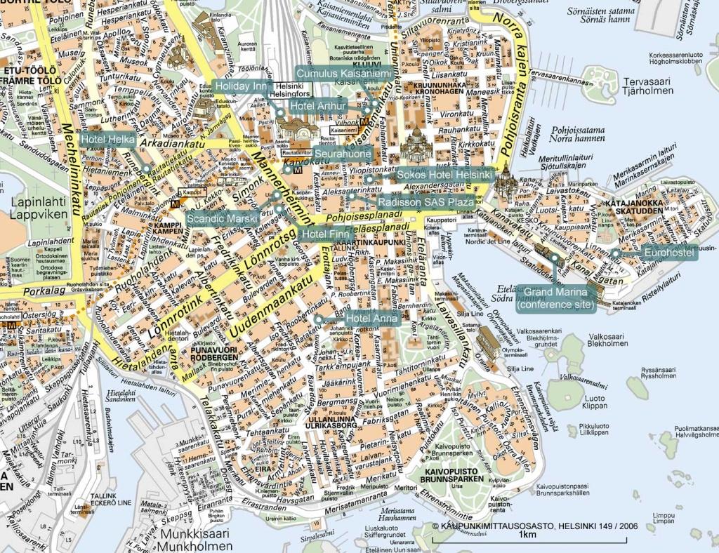 Spawc 2007 - Helsinki City Map Printable