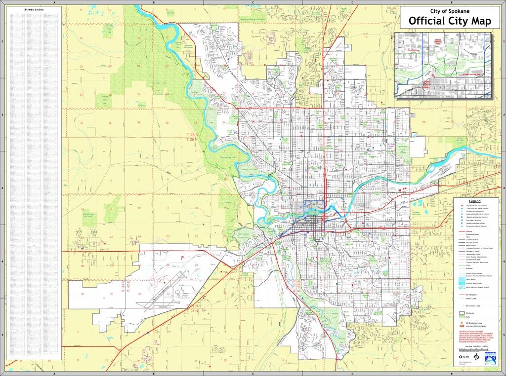 Spokane Street Map - Downtown Spokane Map Printable