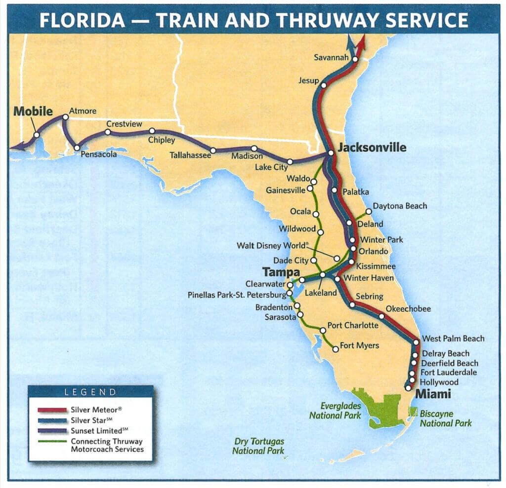 Sportscar Worldwide   Sebring Travel - Amtrak Florida Route Map