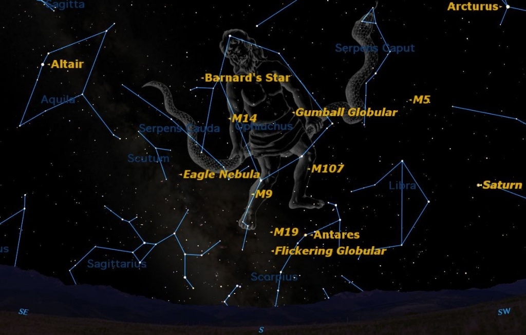 Spotted! A Rarely Seen Constellation Shines This Summer | Space - Southern California Night Sky Map