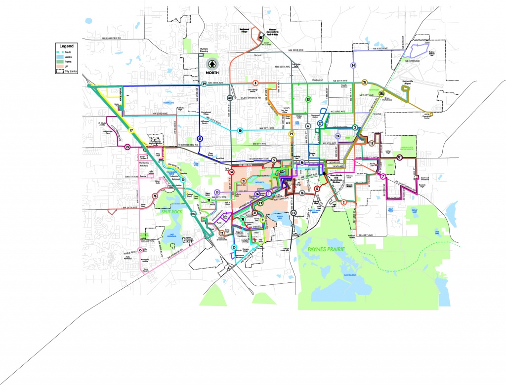 Spring 2018 (Weekday Routes Map) - Go-Rts - Map Of Gainesville Florida Area