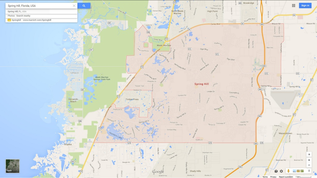 Spring Hill, Florida Map - Map Showing Spring Hill Florida