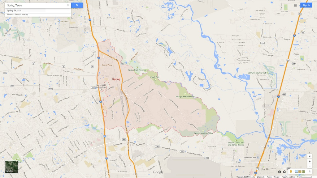 Spring Texas Map - Google Maps Spring Texas