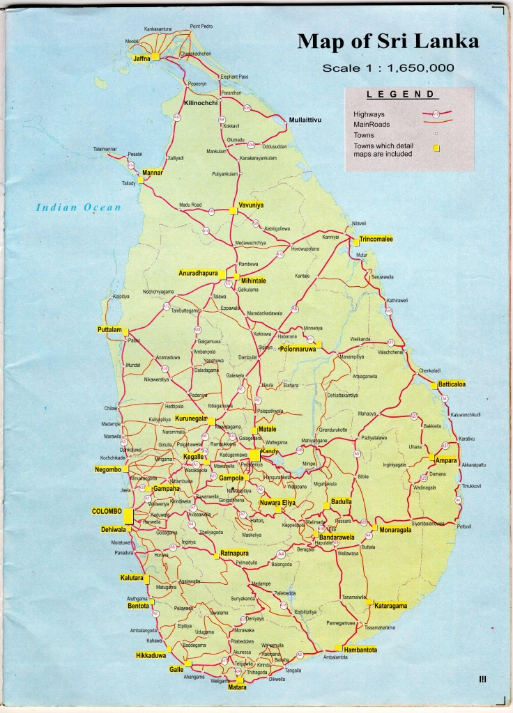 Sri Lanka Maps | Printable Maps Of Sri Lanka For Download - Printable Map Of Sri Lanka
