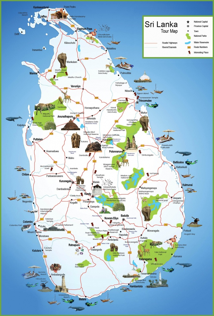Sri Lanka Travel Map - Printable Map Of Sri Lanka