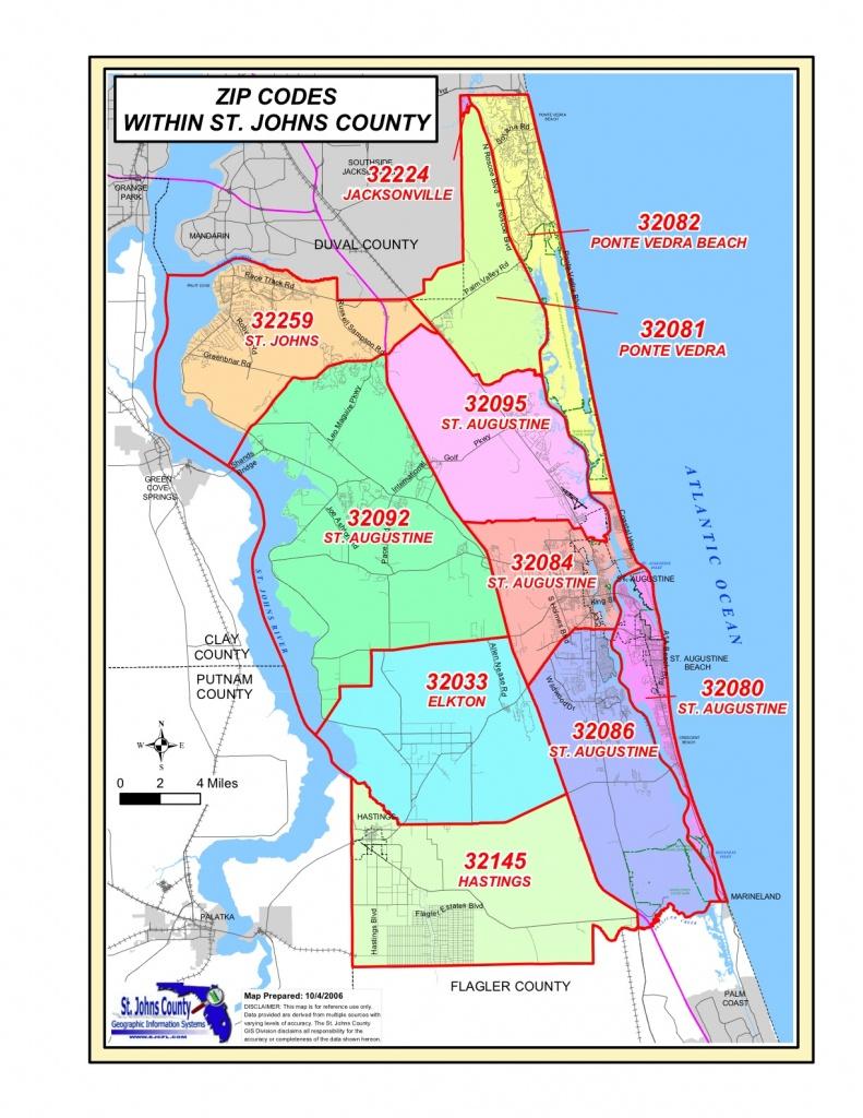 St Augustine Zip Code Map | Woestenhoeve - St Augustine Florida Map