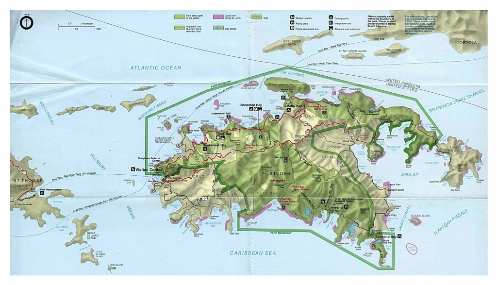St John Travel To From And In Between The Us Virgin Islands Map Of - Printable Map Of St John Usvi