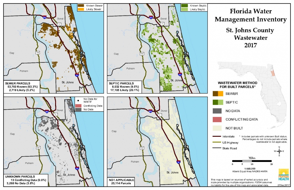 St. Johns Florida Water Management Inventory Summary | Florida - St Johns Florida Map