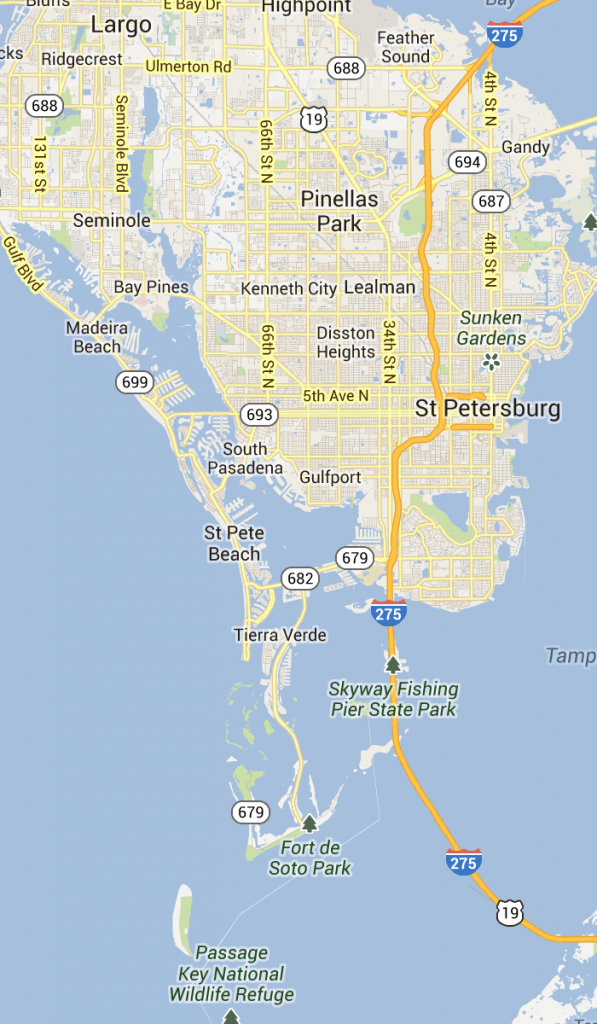 St. Pete Beach And Pass-A-Grille Florida   St Petersburg Clearwater - Redington Beach Florida Map