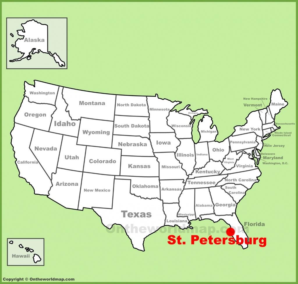 St. Petersburg Maps | Florida, U.s. | Maps Of St. Petersburg - St Pete Florida Map