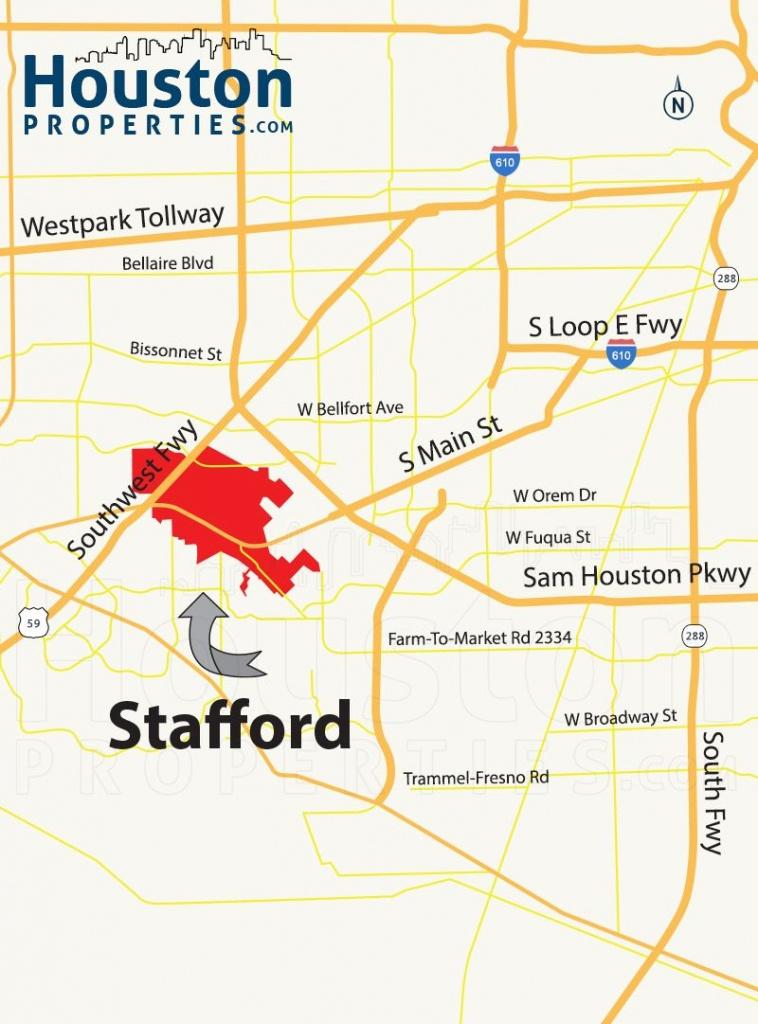 Stafford Tx Map | Great Maps Of Houston | Stafford Tx, Houston - Stafford Texas Map