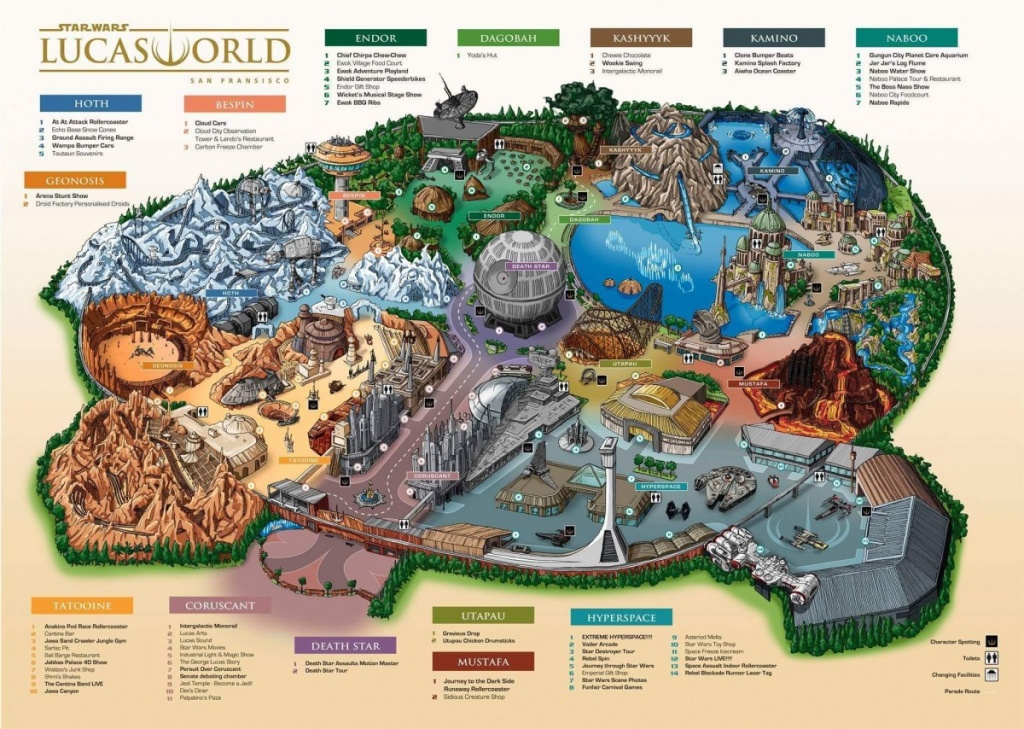 Star Wars Lucas World Theme Park Map Fake Or Leaked - Theme Parks California Map