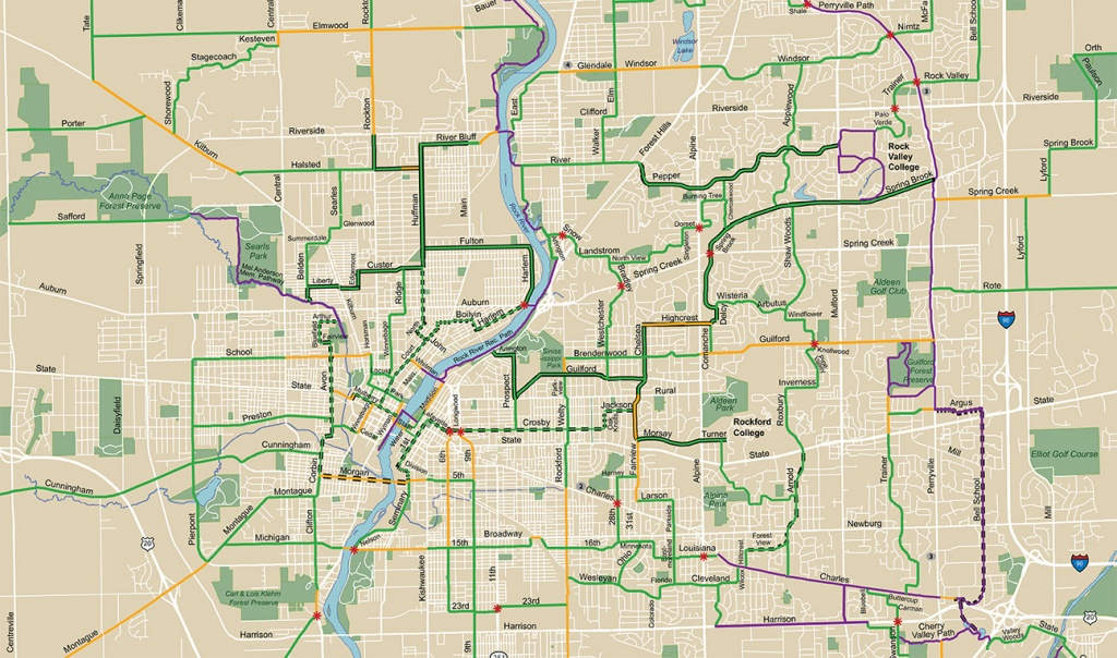 State And City Bike Maps - Ride Illinois - Ride Illinois - Printable Map Of Rockford Il