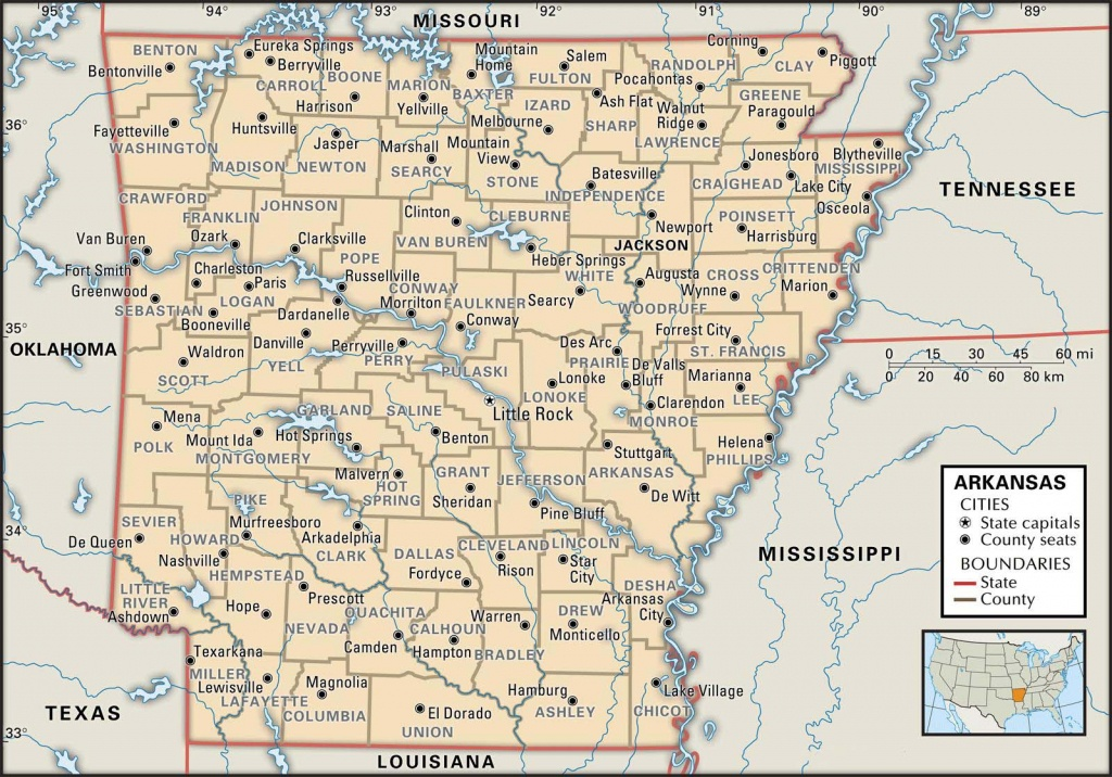 State And County Maps Of Arkansas - Arkansas Road Map Printable
