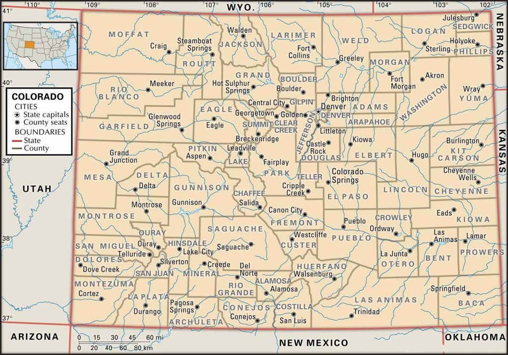 State And County Maps Of Colorado - Printable Map Of Colorado