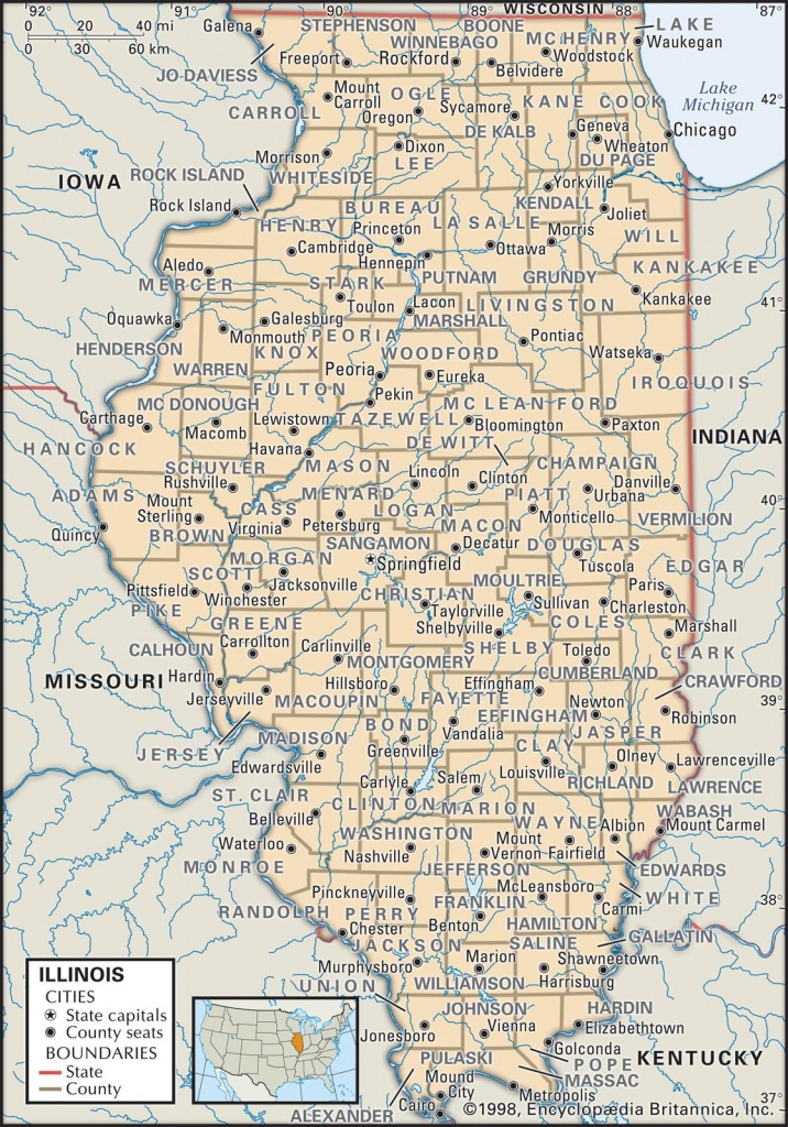 State And County Maps Of Illinois - Illinois County Map With Cities Printable