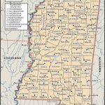 State And County Maps Of Mississippi   Printable Map Of Ms