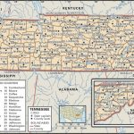 State And County Maps Of Tennessee   Printable Map Of Tennessee Counties And Cities