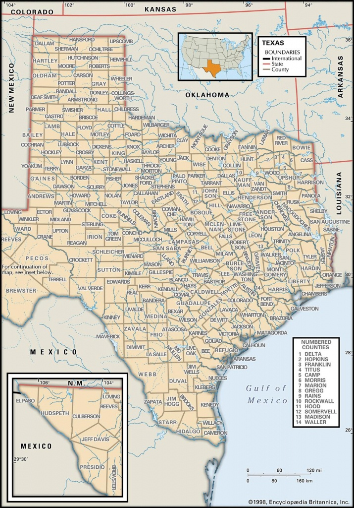 State And County Maps Of Texas - Texas Property Lines Map