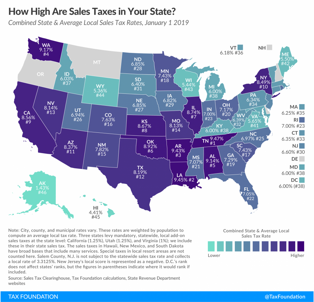 State And Local Sales Tax Rates, 2019 | Tax Foundation - Florida Property Tax Map