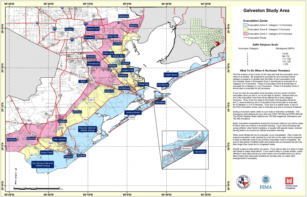 State Level Maps - Texas Galveston Map