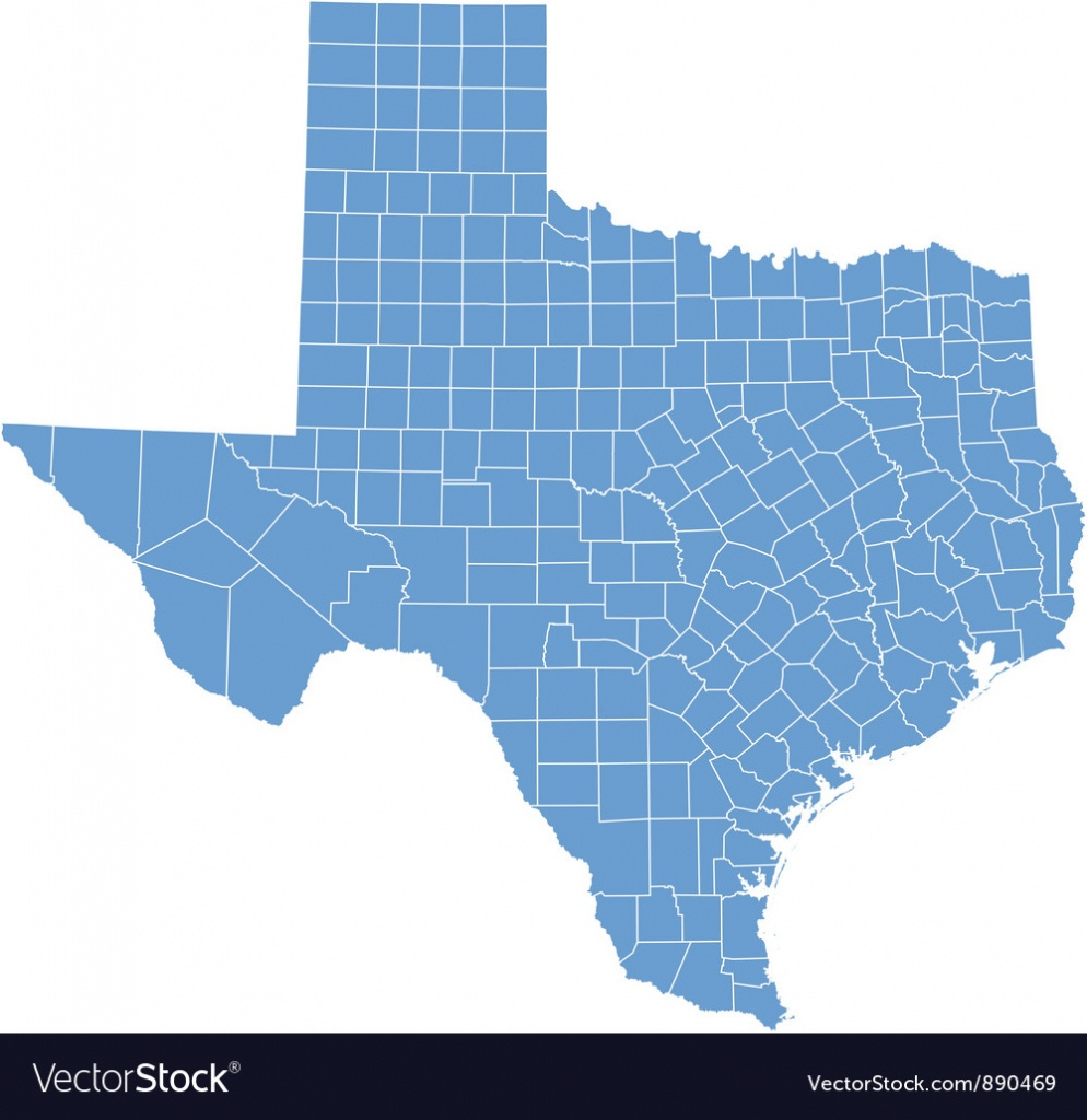 State Map Of Texascounties - Texas Map Vector Free