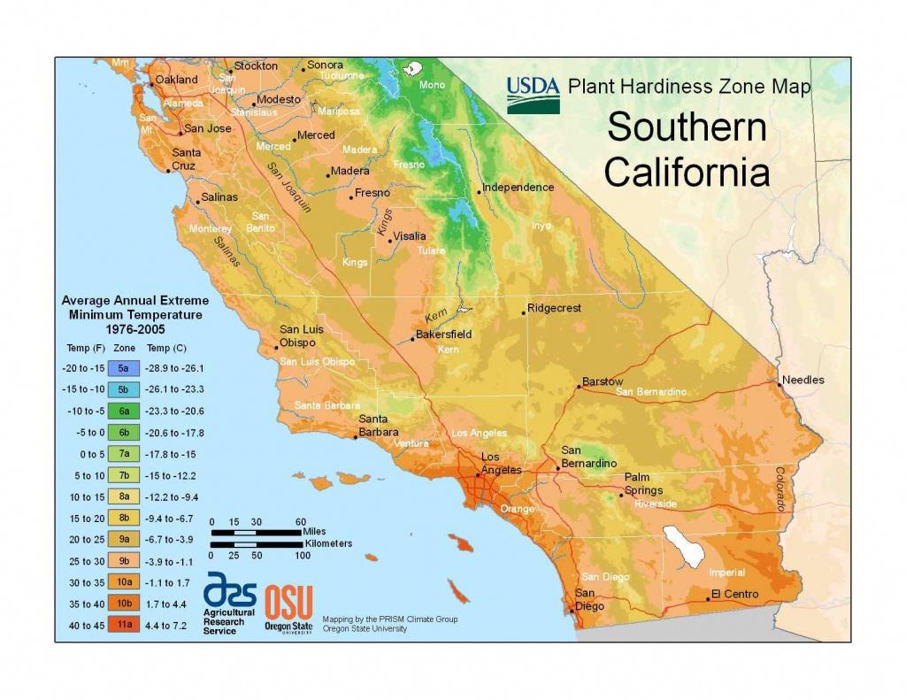 State Maps Of Usda Plant Hardiness Zones - Usda Zone Map California