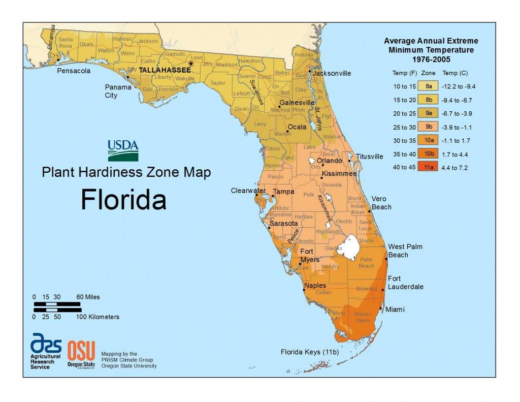 State Maps Of Usda Plant Hardiness Zones - Usda Zone Map Florida
