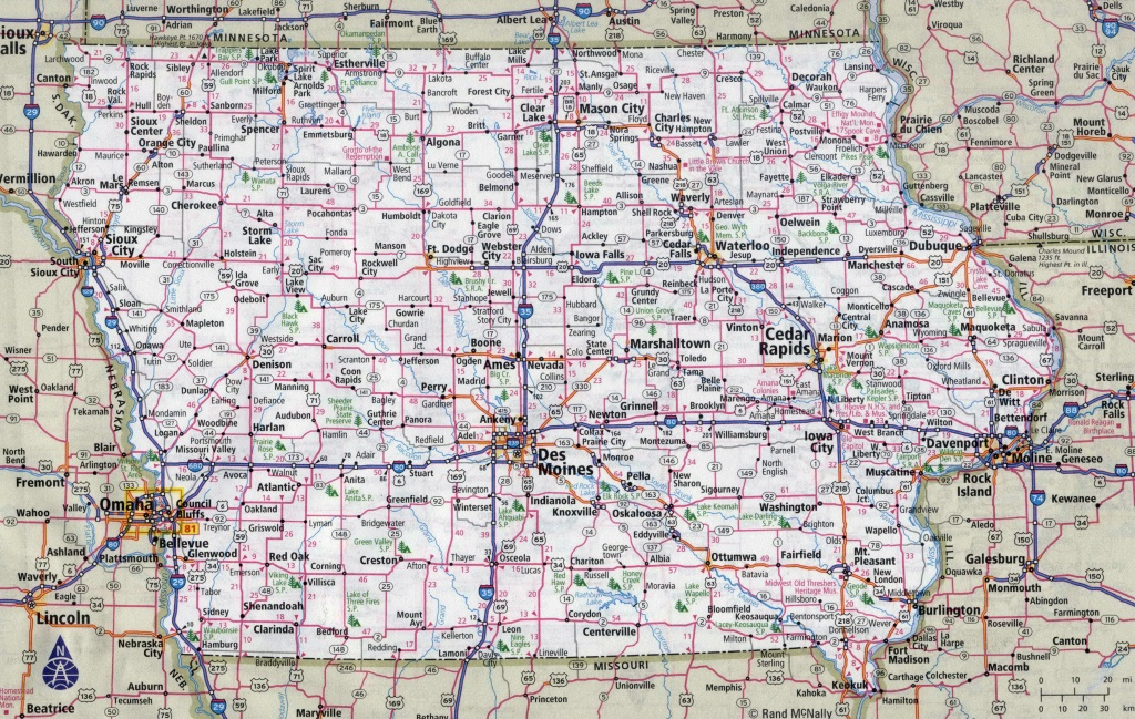 State Of Iowa Map Large Detailed Roads And Highways With Cities - Printable Iowa Road Map